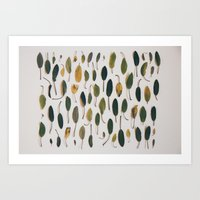 Shades Of Sage Collectio… Art Print