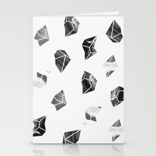 Marble Fragments Stationery Card