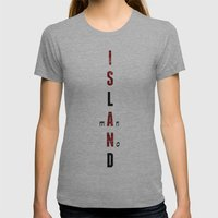 BWR No. 1 Island (White) Womens Fitted Tee Athletic Grey SMALL
