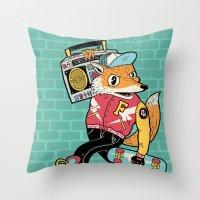Thunder Foxes Crew Throw Pillow