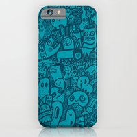 Blue Doodle iPhone 6 Slim Case