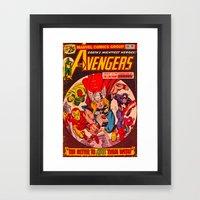Superhero Cover Framed Art Print