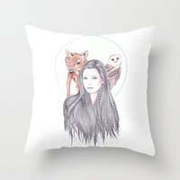 Forest Allies Throw Pillow