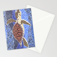 sea turtle: unity through collage Stationery Cards