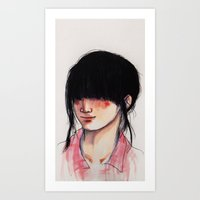 Girl with the Fringe Art Print