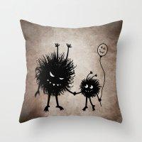 Evil Flower Bug Mother's… Throw Pillow
