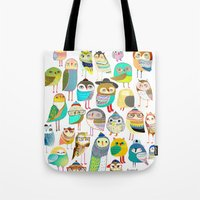 Owls. owl illustration, owl art, owl decor, pattern, art, design, animal, nature, kids, children,  Tote Bag