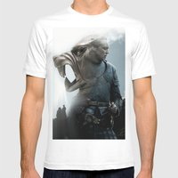 The Hound's Fall Mens Fitted Tee White SMALL