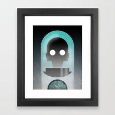 Mr. Freeze Framed Art Print