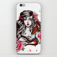 The Girl The Snake And T… iPhone & iPod Skin