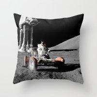 Battle Of Moon Throw Pillow