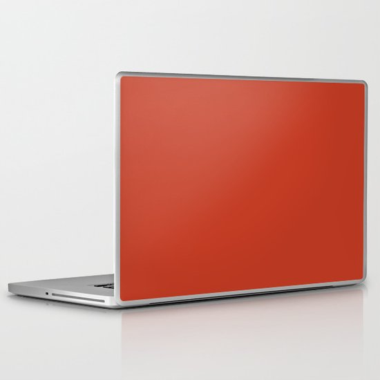 Dark pastel red Laptop & iPad Skin