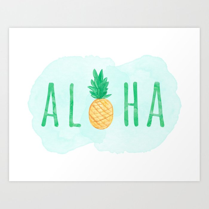 Sunday's Society6 - Aloha pineapple art print