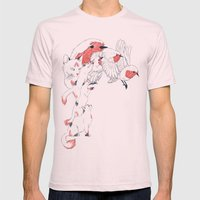 Non Wind-Up Robin Mens Fitted Tee Light Pink SMALL