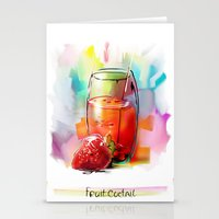 FRUIT, COCKTAIL2 Stationery Cards