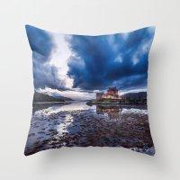 Dark Skies At Eilean Don… Throw Pillow