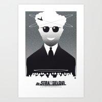 Dr STRANGELOVE-black version (SK Films) Art Print