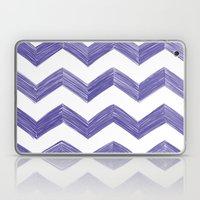 Classic Chevrons in Blue-Purple Laptop & iPad Skin