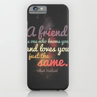 iPhone & iPod Case featuring Friendship | Elbert Hubbard by Elizabeth Cakovan
