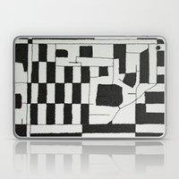 Black & White Map Laptop & iPad Skin