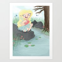 Pond Fairy Art Print