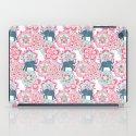 Tiny Elephants in Fields of Flowers iPad Case