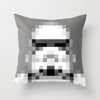Stormtrooper 8-Bit Throw Pillow