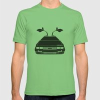 Delorean DMC 12 / Time machine / 1985 Mens Fitted Tee Grass SMALL