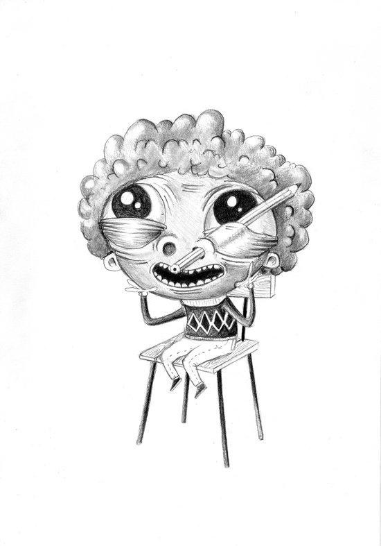 Ugly kids - Pencil Art Print