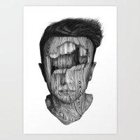 Wood Kid Art Print