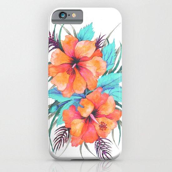 TROPICAL FLOWER {orange hibiscus}  iPhone & iPod Case