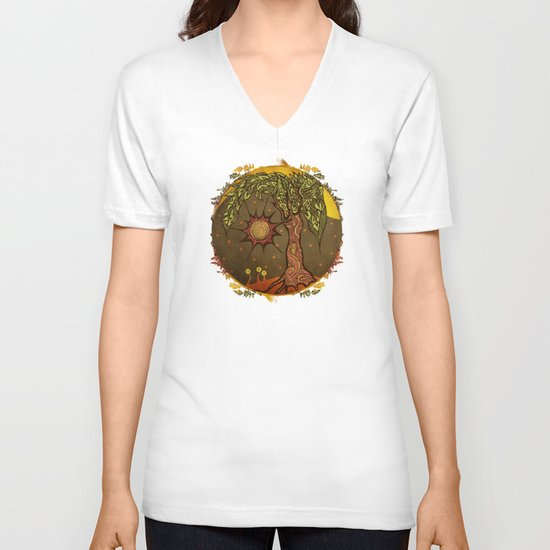 "Mystic tree Dia by Pom Graphic Design & Viviana Gonzalez"" V-neck T-shirt"