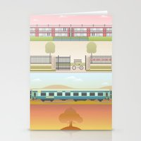 wes anderson Stationery Cards featuring A Wes Anderson Collection Print 2 by George Townley