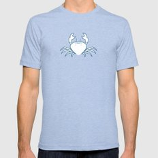 Crab Mens Fitted Tee Tri-Blue SMALL
