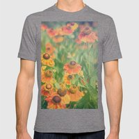 Autumn Hues Mens Fitted Tee Tri-Grey SMALL