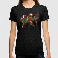 Little Elephant Womens Fitted Tee Tri-Black SMALL