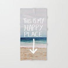 My Happy Place (Beach) Hand & Bath Towel