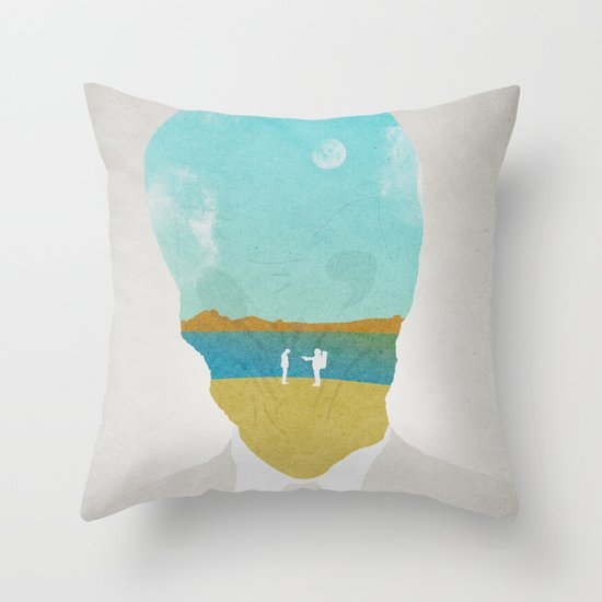 the (Silence) Impossible Astronaut Throw Pillow