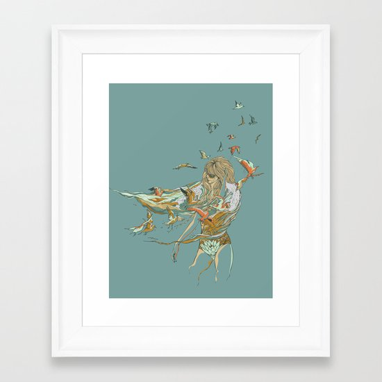 MELT INTO THE OCEAN Framed Art Print