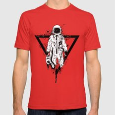 Out Mens Fitted Tee Red SMALL