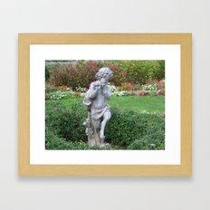 park flutist  Framed Art Print