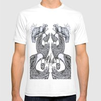 vultures and crows Mens Fitted Tee White SMALL
