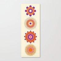 Sunburst: Orange Canvas Print