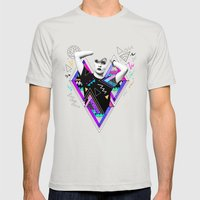 Heart Of Glass - Kris Tate x Ruben Ireland Mens Fitted Tee Silver SMALL