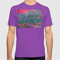 Chipping Paint Mens Fitted Tee Ultraviolet SMALL