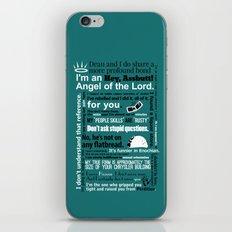 Supernatural - Castiel Q… iPhone & iPod Skin