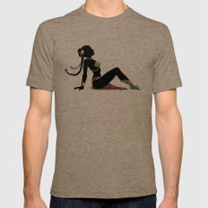 Slave Leia Mudflap Mens Fitted Tee Tri-Coffee SMALL