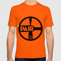 Food And Wine Pairing Mens Fitted Tee Orange SMALL
