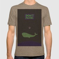 Don't Panic Mens Fitted Tee Tri-Coffee SMALL