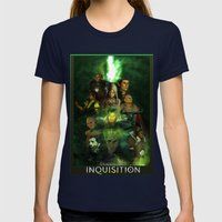 The Inquisition Womens Fitted Tee Navy SMALL